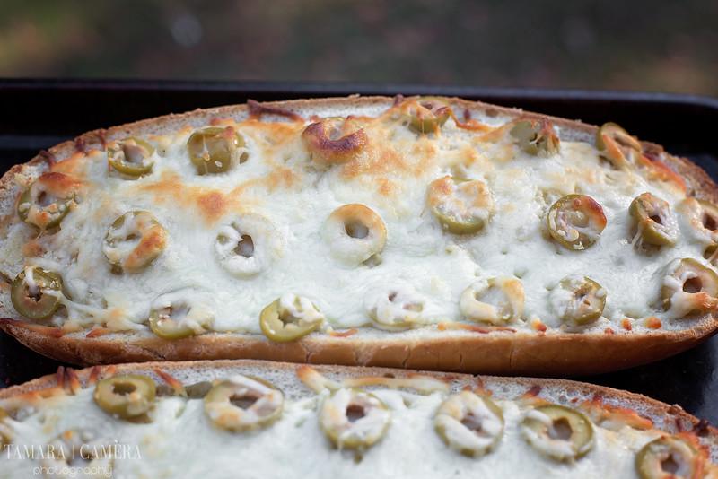 Garlic Olive Cheesy Bread!